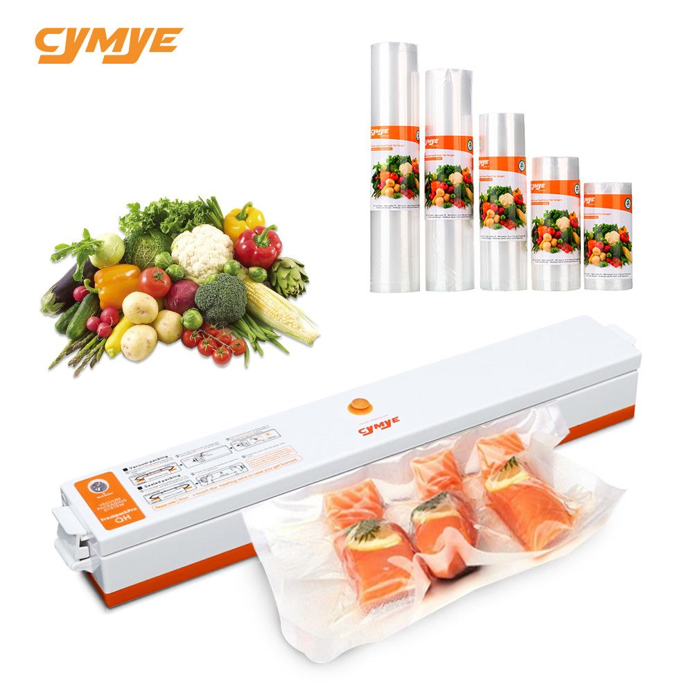 CYMYE Food saver Vacuum Sealer QH01 Machine + Plastic rolls