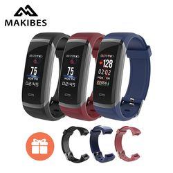 [STOCK] Makibes HR3 Coloré Écran Smart Bracelet Toujours-sur la fréquence cardiaque moniteur IP67 Santé Tracker Bracelet pour Android iOS