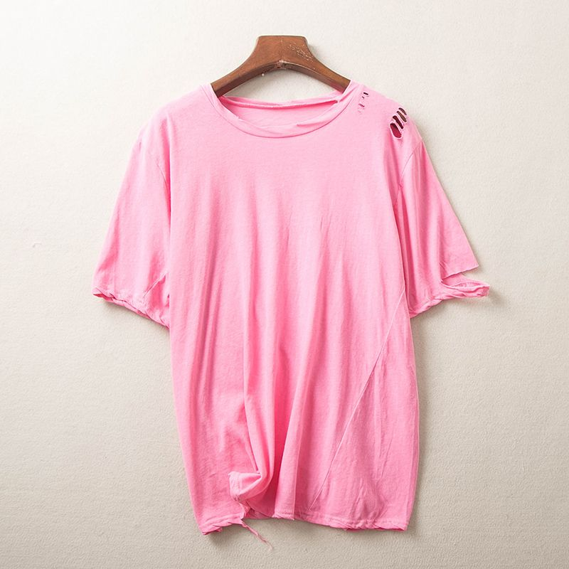 3b Summer new solid color t-shirt female short-sleeved casual Korean short-sleeved customizable printing LOGO my9806 cherry