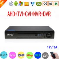 1080 P Cámara de Vigilancia XMeye Hi3521A 16 Canal 16CH 1080N 6 en 1 Coaxial Híbrida WXVI IP NVR CVI TVi AHD DVR FreeShipping Grabadoras de vídeo de vigilancia