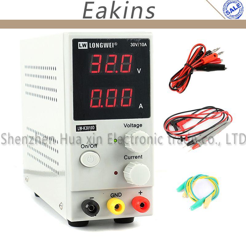 LW-3010D 30V 10A 5A Mini Adjustable Digital Laboratory DC Switching Power Supply 110V 220V US/EU/AU Plug + Multimeter Probe