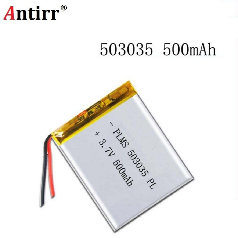 Kostenloser versand Polymer batterie 500 mah 3,7 V 503035 smart home MP3 lautsprecher Li-Ion akku für dvr GPS mp3 mp4 handy lautsprecher