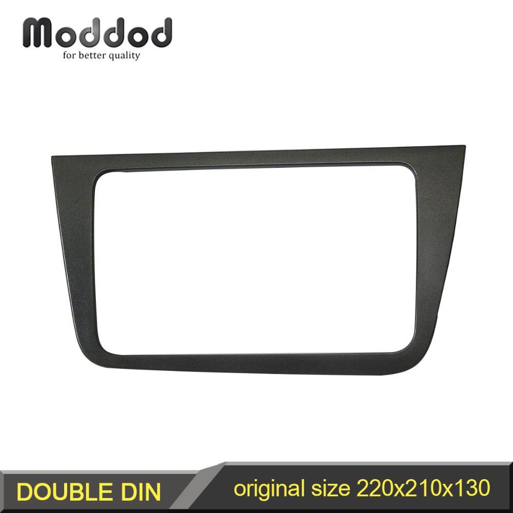 Double 2 Din Fascia pour siège Altea LHD Radio panneau stéréo tableau de bord Installation de montage garniture visage cadre lunette