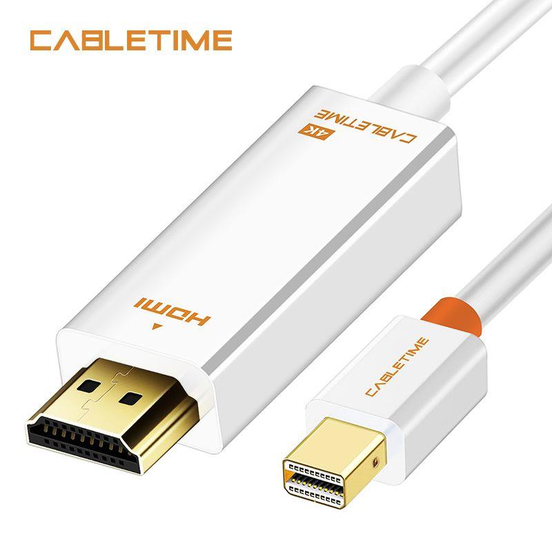 Câble Mini DisplayPort dp vers HDMI 4K adaptateur HDMI câble de Port d'affichage HDMI pour 1080P TV Lenovo ordinateur MacBook N043