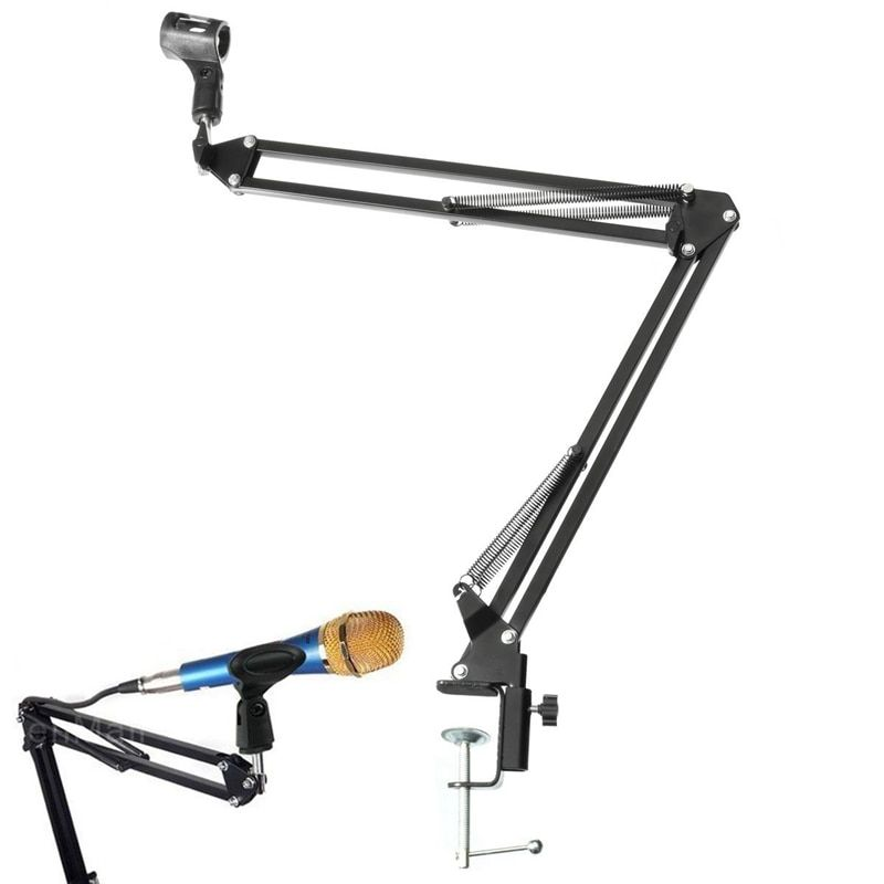 Mic Stand Holder Microphone Scissor Arm Suspension Boom Mount Shock Holder Studio Sound Broadcasting For Studio Broadcast PN