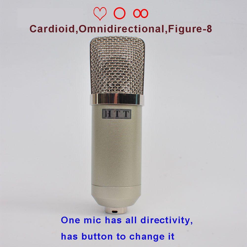 DIY Professionelle 25mm Kapseln Musiker Audio Studio Mic Sound Musik Aufnahme Rekord Kondensator Mikrofon