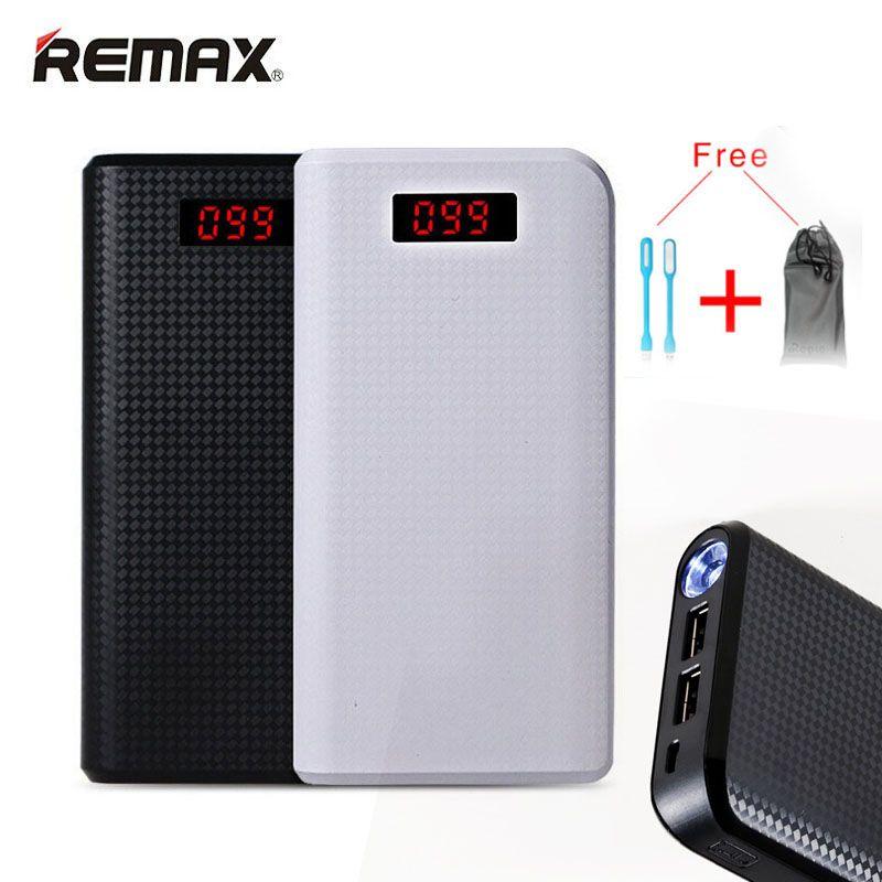 Remax 30000 mah Powerbank double LED usb 18650 Portable 20000 mah batterie externe chargeur de batterie externe pour Iphone 7 Xiaomi appauvrbank
