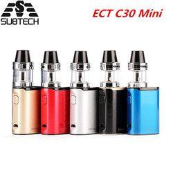 Asli DLL C30 Mini e rokok mulai kit Built-In baterai dengan 2 ml alat penyemprot rokok elektronik Besar Kabut Vape Vaporizer