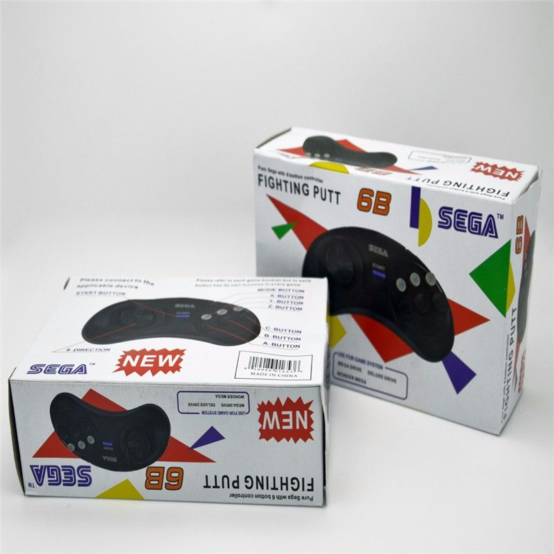 2 x classic game controller tasten wired 6 taste joypad für Sega Sega Genesis/MD2 y1301/PC/Mac Mega Drive patronen