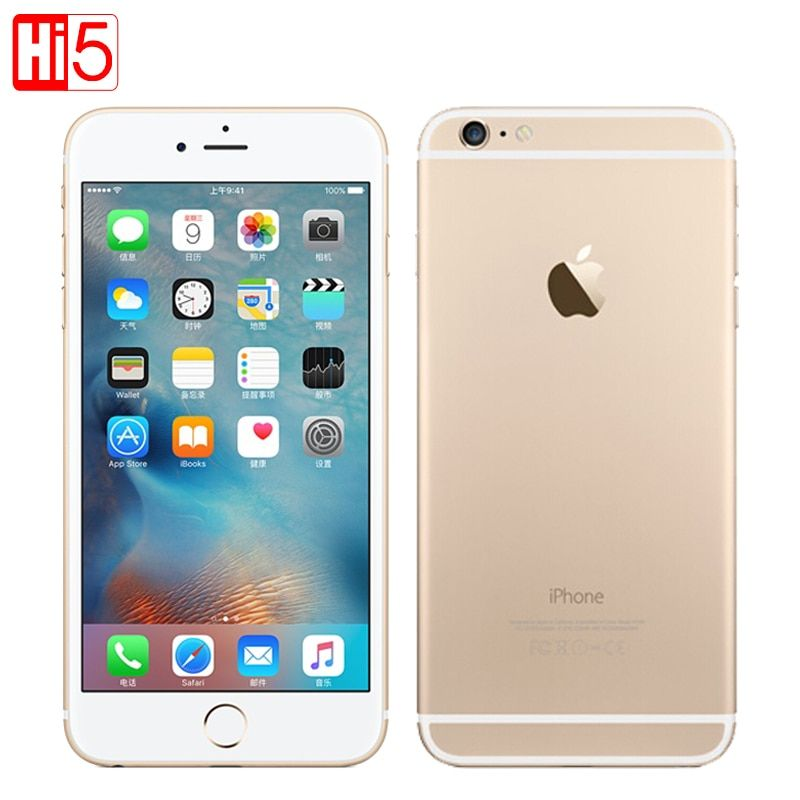 Unlocked Apple iphone 6 Plus wifi Single Sim Dual Core 16G/64GB ROM IOS 8MP video LTE Fingerprint 5.5