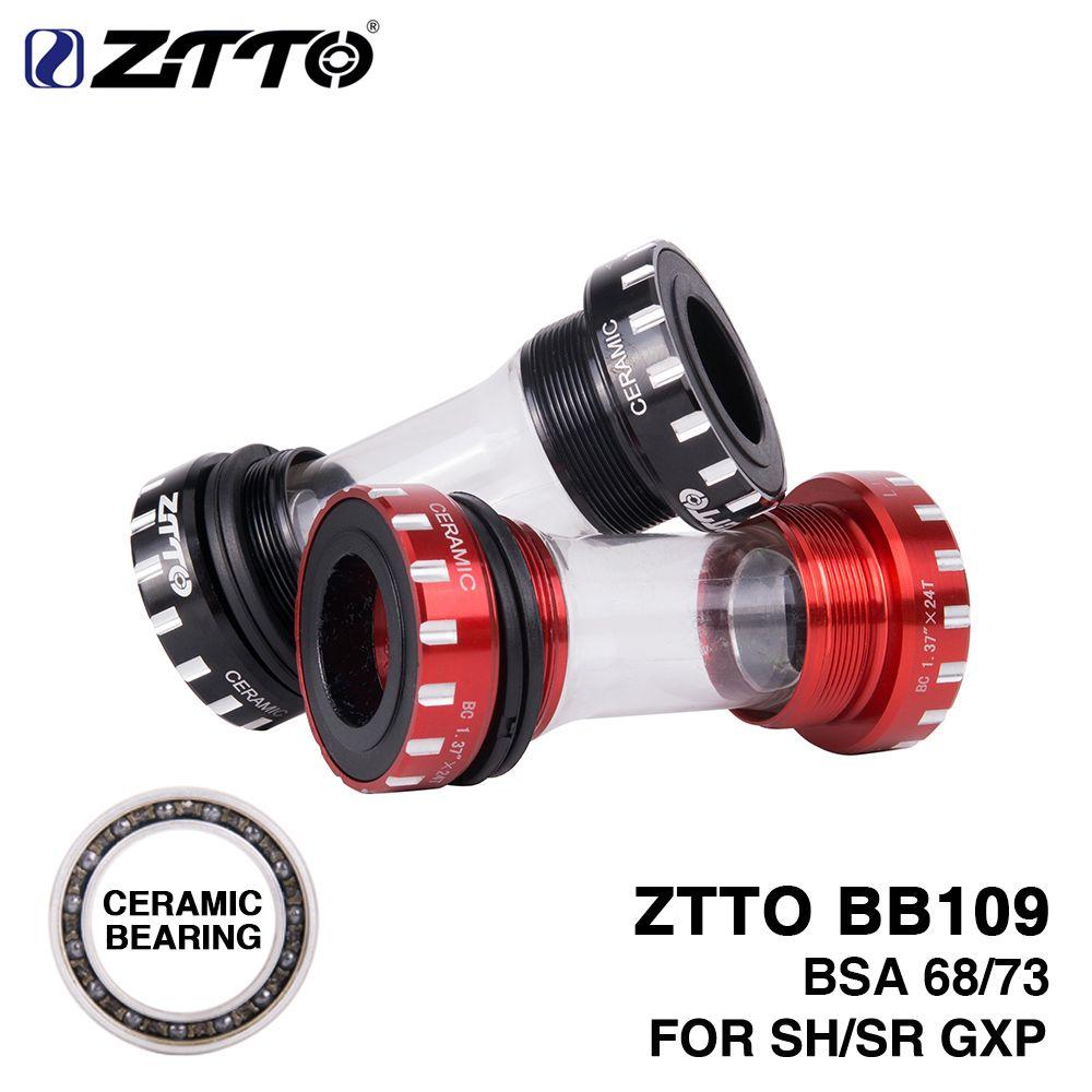 ZTTO roulement en céramique BB109 BSA68 bsa 73 vtt vélo de route supports de fond de roulement externe pour pièces 24mm K7 22mm GXP pédalier