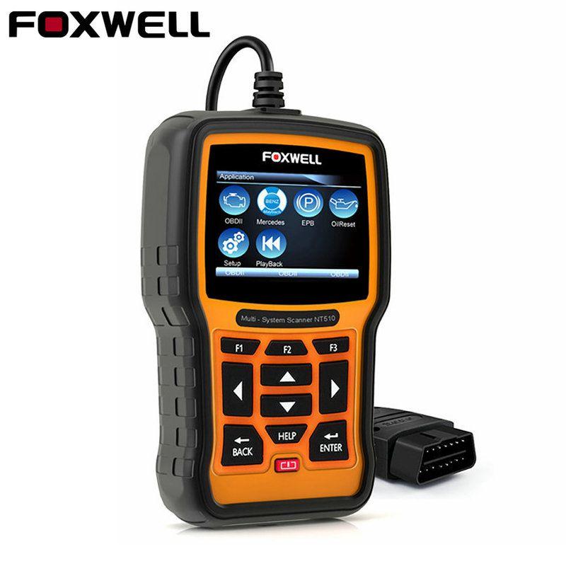 FOXWELL NT510 PRO Auto OBD OBD2 Diagnostic Tool Full System ABS SRS Airbag Crash Data EPB Oil Reset for BMW BENZ VAG Hyundai