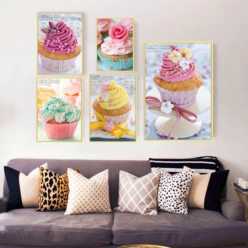 New Diamond Mosaic Painting Ice-cream Cakes Full Diamond Embroidery 5D Diy Diamond Painting Cross Stitch Square Diamond Set