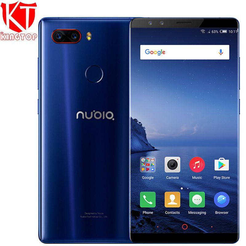 Original Nubia Z17S 4g LTE Handy 8 gb RAM 128 gb ROM 5,73 zoll Android 7.1 Snapdragon 835 Vorne und Hinten kameras NFC telefon