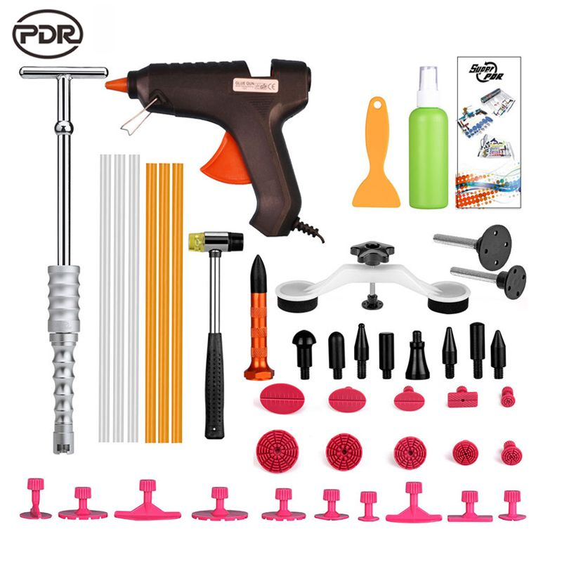 PDR Tools Kit Paintless Dent Repair Tools Dent Removal Car Body Repair Kit Tool To Remove Dents Dent Puller Fast Shipping