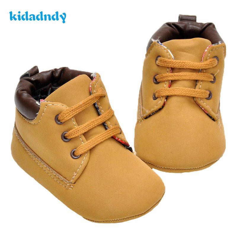 Kidadndy Mocasín Bebé Menino Sapato infantil Zapatos de Bebé del Color Del Niño Del Bebé zapatos de 0 A 1 Años de Edad 2017 Zapatos de Invierno Cálido XUE01