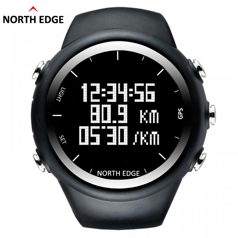 Northedge Новый GPS часы Цифровой час Для мужчин цифровой наручные часы smart темп Скорость калорий Бег бег Триатлон Пеший Туризм Водонепроницаемый