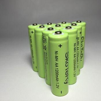 10 pcs/lot 1200mAh  New Original  Ni-MH Rechargeable Battery AA 1.2V green Free shipping