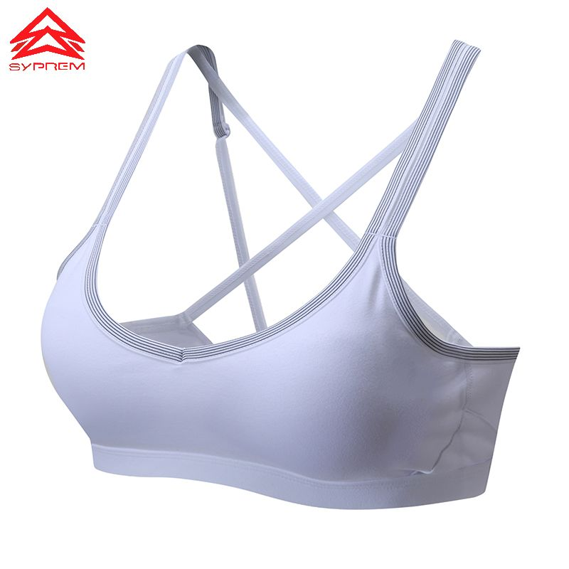 SYPREM sportswear Yoga Sports Bra Brassiere Fitness Seamless Back Cross Fluorescent sports top women bra Sexy Underwear,1FT8044