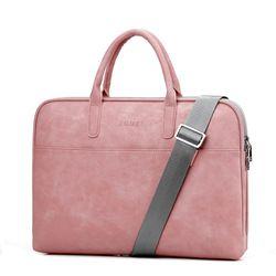 Fashion PU Kulit Tas Laptop UNTUK WANITA 14 15 15.6 17.3 Inch untuk MACBOOK AIR 13 Inch Santai Portable Tahan Air Tas Notebook