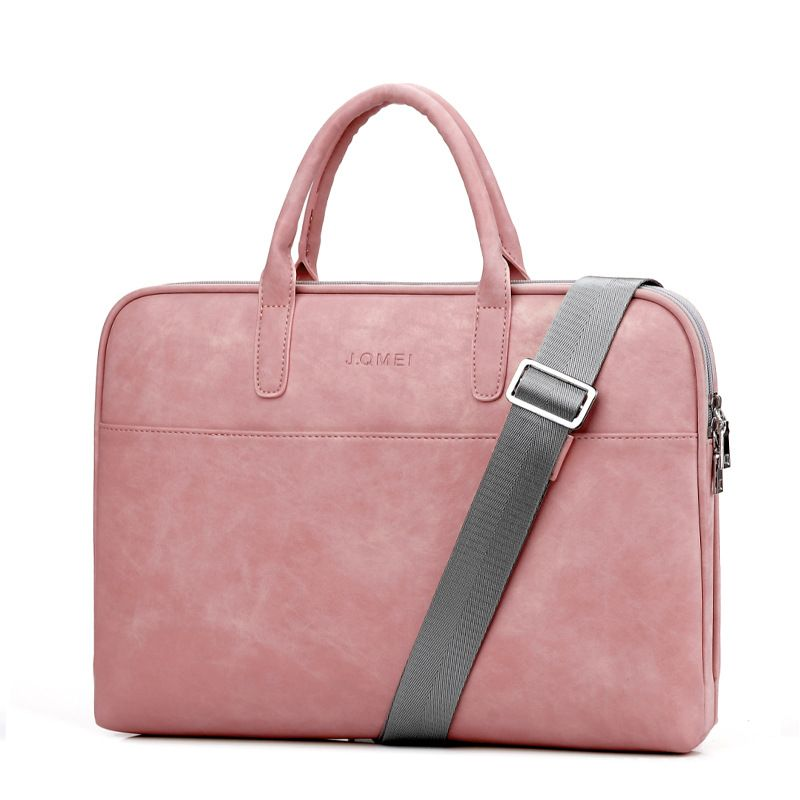 Fashion PU Leather Laptop bags for women 14 15 15.6 17.3 inch for macbook air 13 inch casual portable waterproof Notebook bag