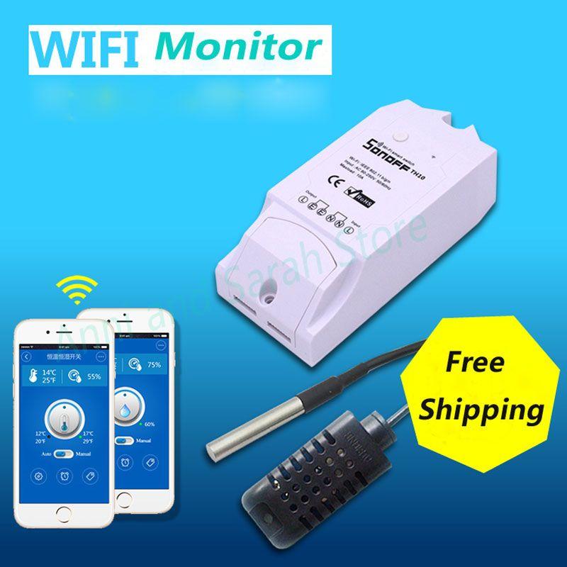 Itead Sonoff E 10a 16a Température Humidité Capteur de Surveillance Pour La Maison Intelligente Commutateur WiFi Intelligent App Télécommande Sans Fil