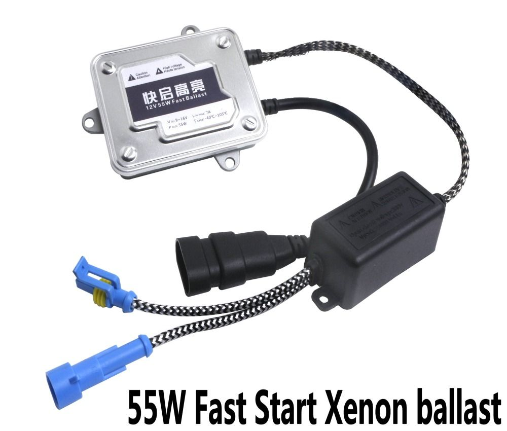 2Pcs Ballast 12V 55W Fast Start Ballast Automotive HID Xenon External Light Digital Signal Process Safety Ballast In White Box