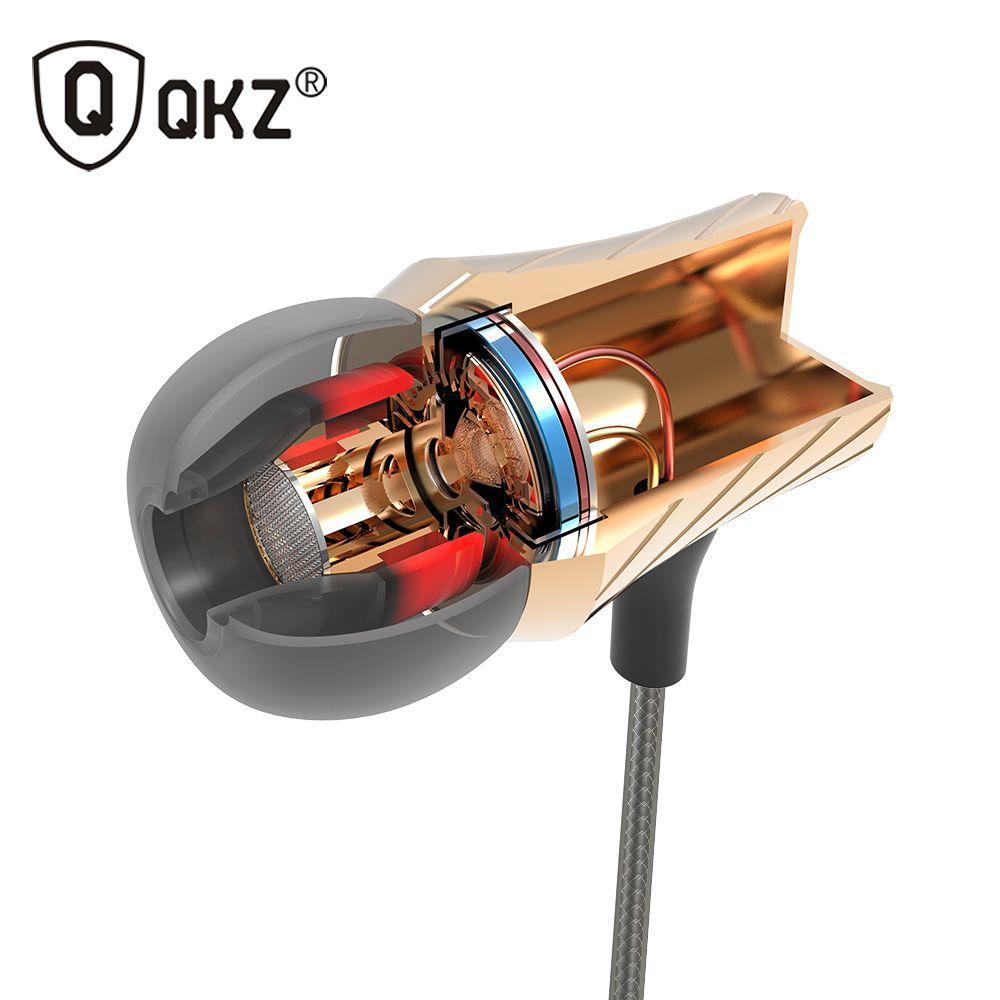 100% D'origine Écouteur QKZ DM3 De Luxe Stéréo Écouteurs Casque 3.5mm Dans oreille Écouteurs Avec Micro Pour iPhone Samsung Et MP3 DJ HTC
