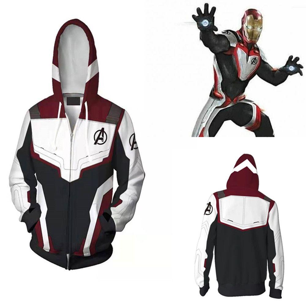 Avengers Endgame Quantum Realm Sweatshirt Jacket Advanced Tech Hoodie Cosplay Costumes 2019 new superhero Iron Man Hoodies suit