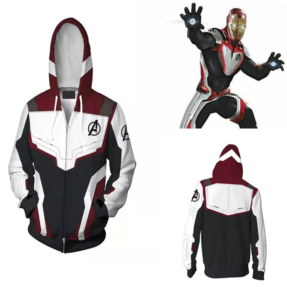 Avengers Endgame Quantum royaume sweat-shirt veste Advanced Tech à capuche Cosplay Costumes 2019 nouveau super-héros Iron Man Hoodies costume