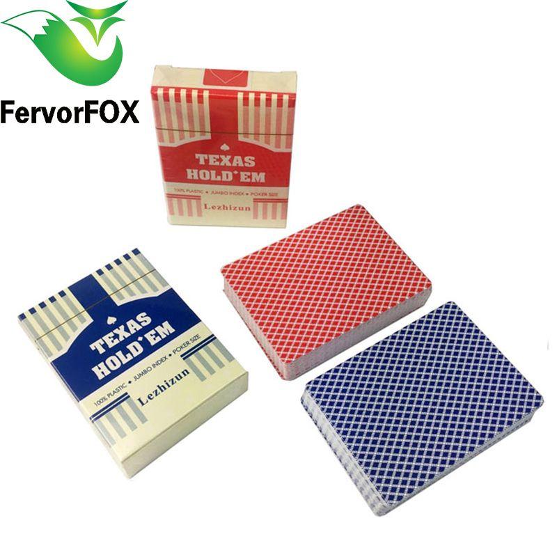 2 Sätze/los Texas Holdem plastikspielkarte spiel poker karten Wasserdicht und dull polnischen poker sterne brettspiele