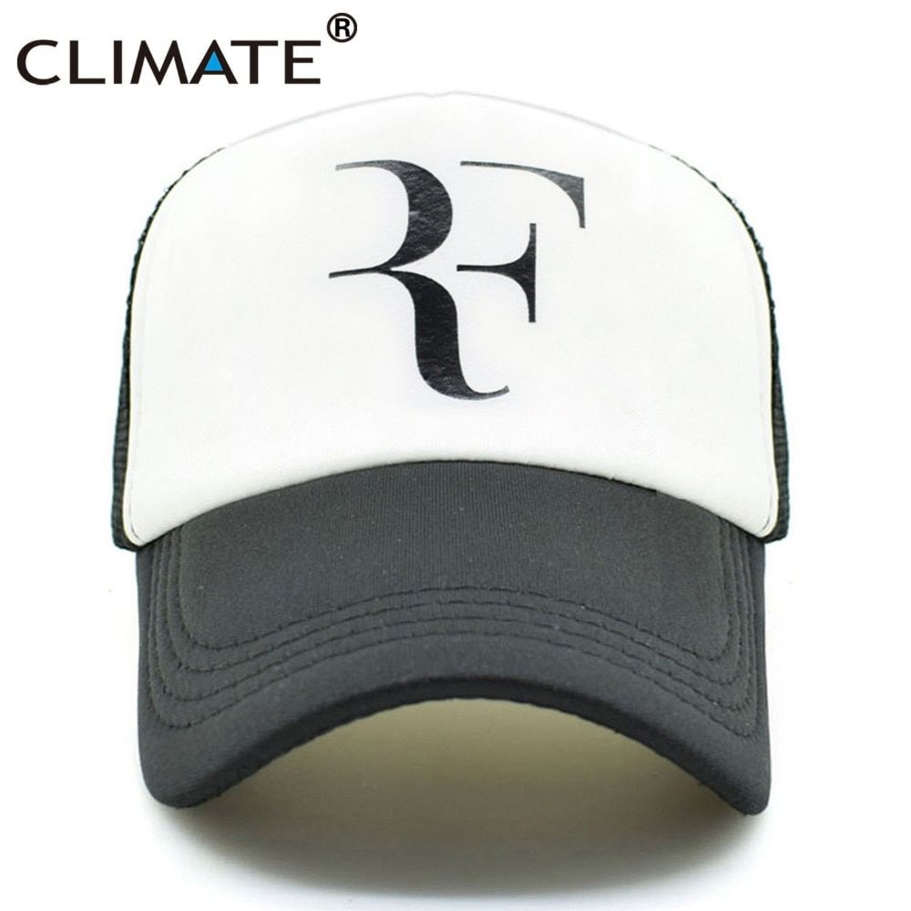 CLIMATE Men Summer Cool Mesh Caps Roger Federer RF Tennis Fans Caps Cool Summer Baseball Mesh Net Trucker Tennis Sport Caps Hat