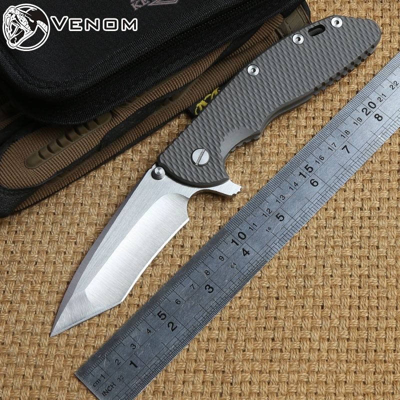 VENOM XM24 kevin john S35vn klinge Titan Flipper klappmesser kugellager camping jagd outdoor taschenmesser EDC werkzeuge