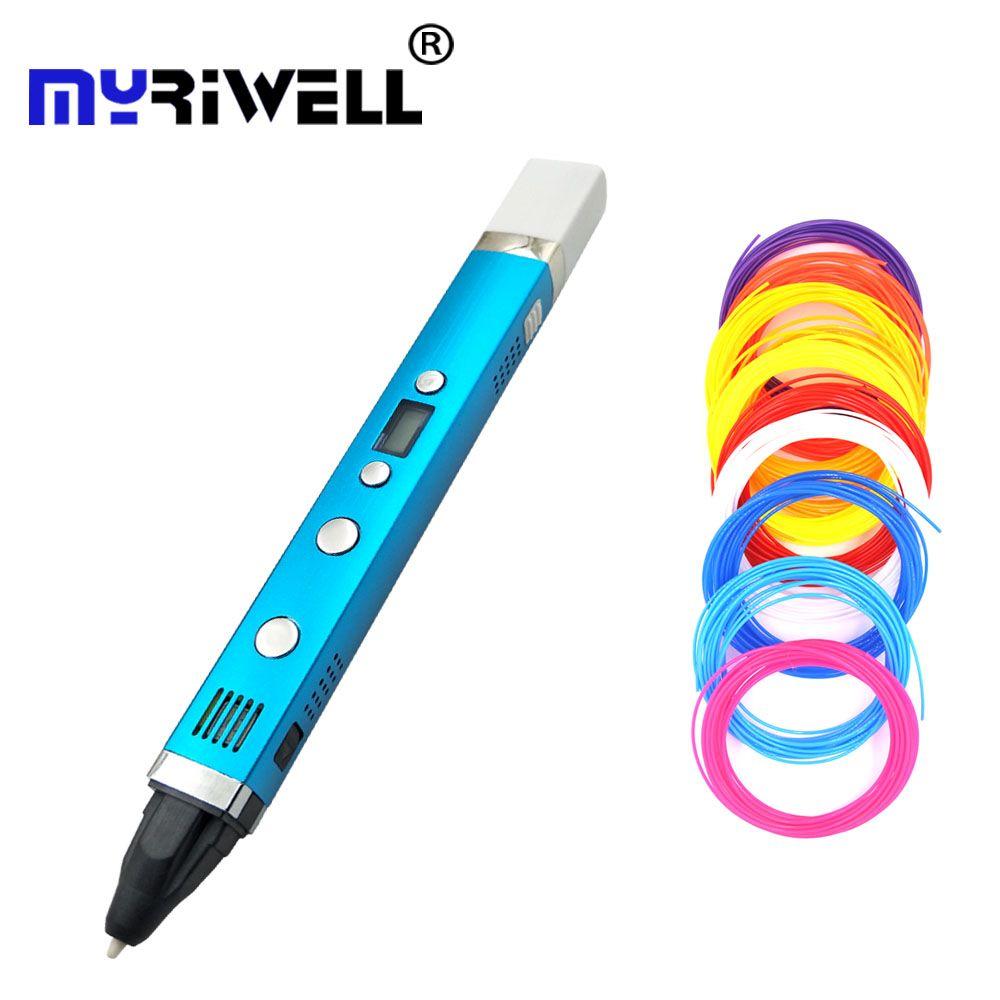 Myriwell 3D Pen USB Creative Caneta Pen 3D graffiti pen Digital 4 speed regulation Best Gift For Kids 3nd 3d printing pen hot