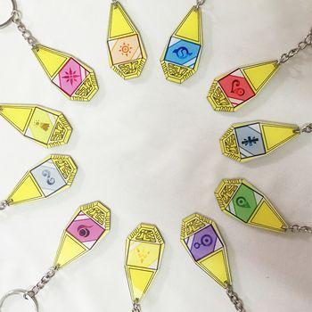 Digimon Adventure Keychain Tyrannosaur Evolution Badge 11 Style Pendant Key Ring for Kids Girl Boy Daughter Son Festival Gift