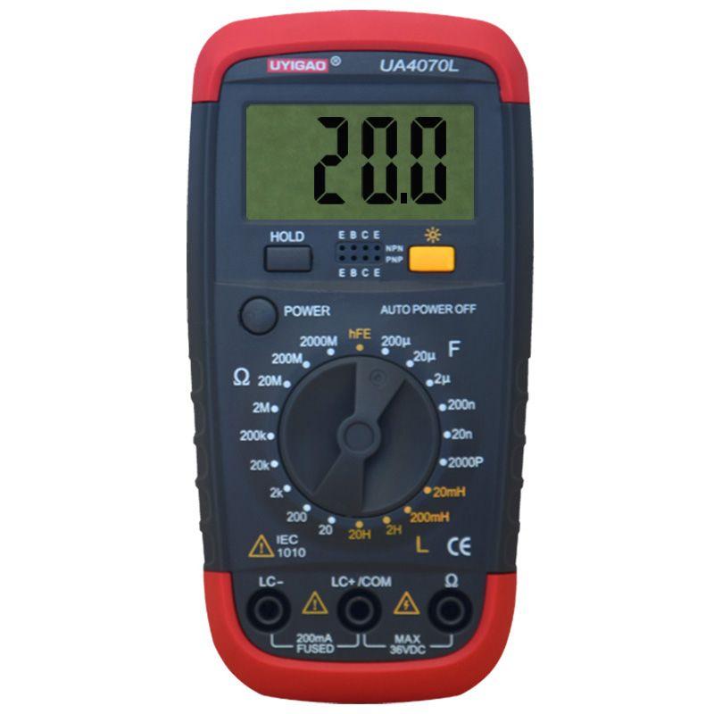 UYIGAO UA4070 Digital Multimeter DMM Resistance Capacitance Inductance LCR Multi Meter Tester with Backlight