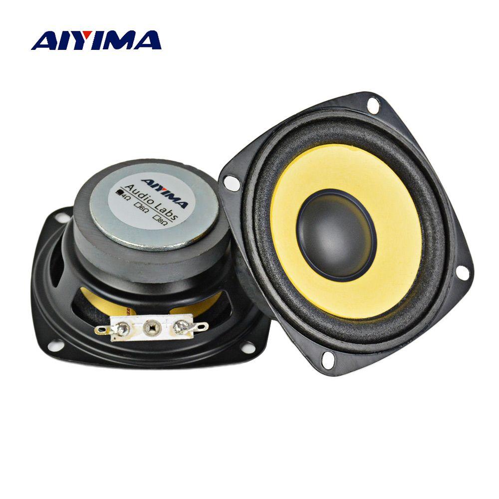 AIYIMA 2Pcs 3 Inch Audio Portable Speakers Full Range 4 Ohm 10 W Sound Amplifier Speaker Multimedia Loudspeaker DIY Home Theater