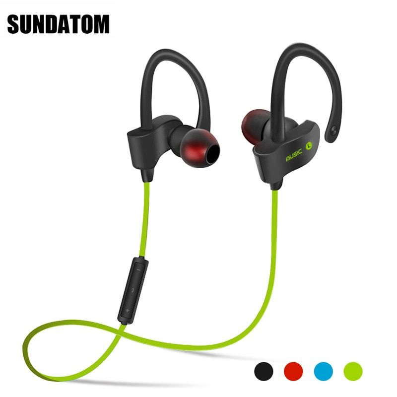 Bluetooth 4.1 Wireless Headphones Ear Hook Fashion Sport Earphones Hifi Stereo Mp3 Music Player Earbuds Headset with Microphone