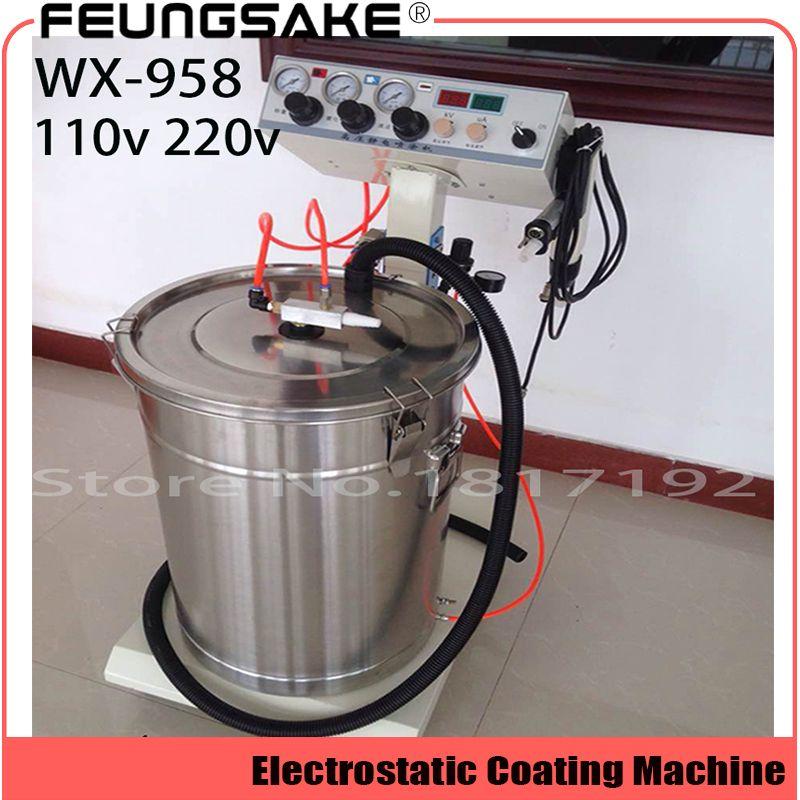 Elektro Pulver Beschichtung maschine WX-958 Elektro Spray Pulver Beschichtung Maschine Spritzen Gun Farbe AC 110 v 220 v