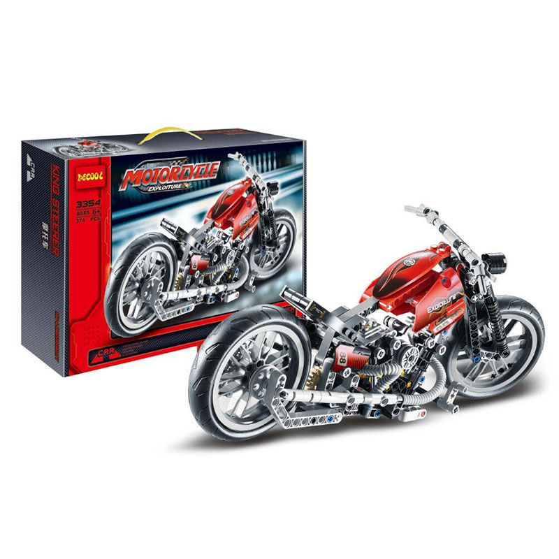 Decool 3354 Exploiture Speed Racing Motorcycle Building Blocks Model Sets 378pcs Bricks Educational Toys For Kids Gifts