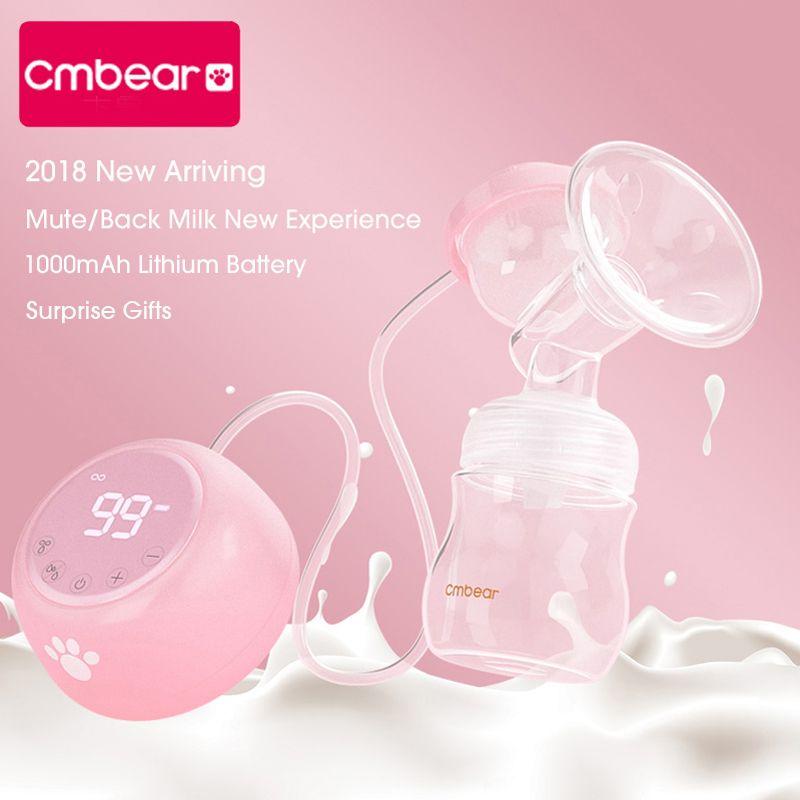 Neue 2018 Cmbear erweiterte Elektrische brust pumpe BPA FREI Leistungsstarke Saug Baby Fütterung USB Brust Pumpen Mehrere modus einstellung