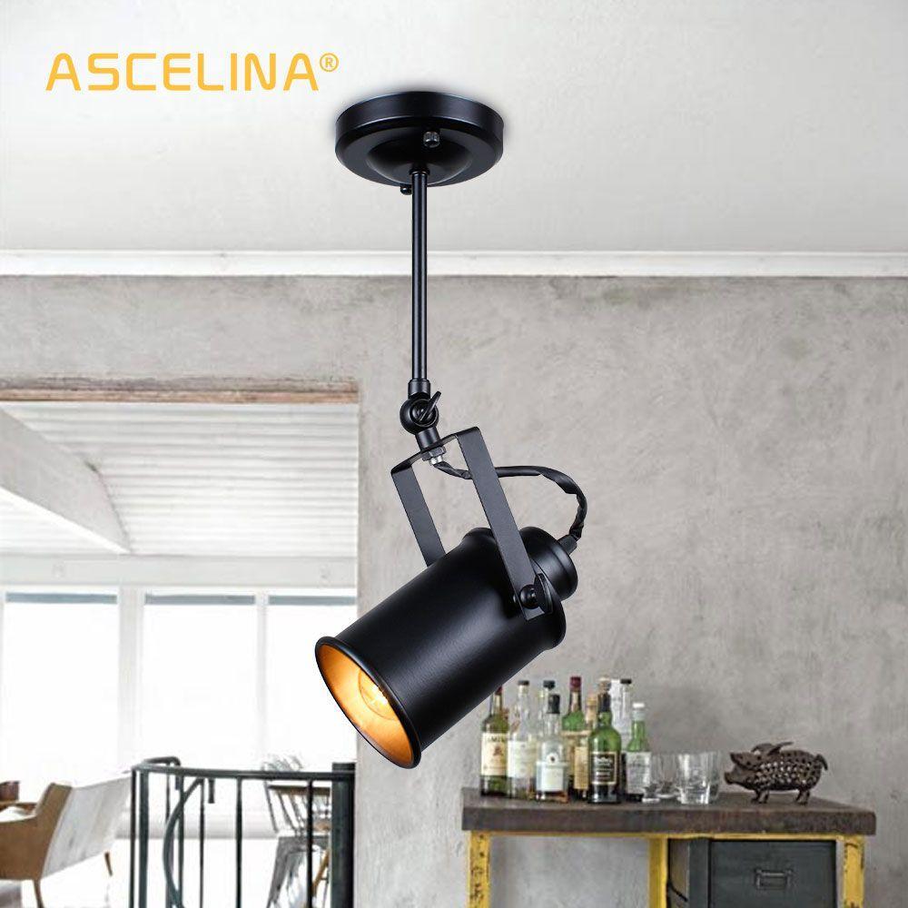 Suspension industrielle Vintage Loft suspension lumière projecteurs américain suspension lampe à LED Restaurant café bar décoration