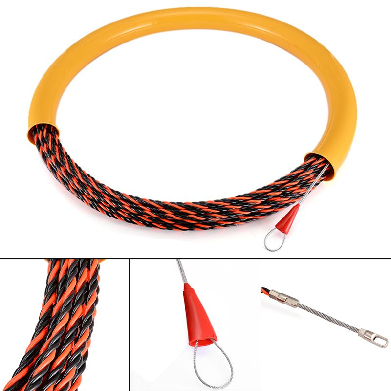 New Cable Push Puller 650KG Wire Puller Rodder Conduit Snake Fish Tape Tested Corrosion Resistant 30M x 6mm