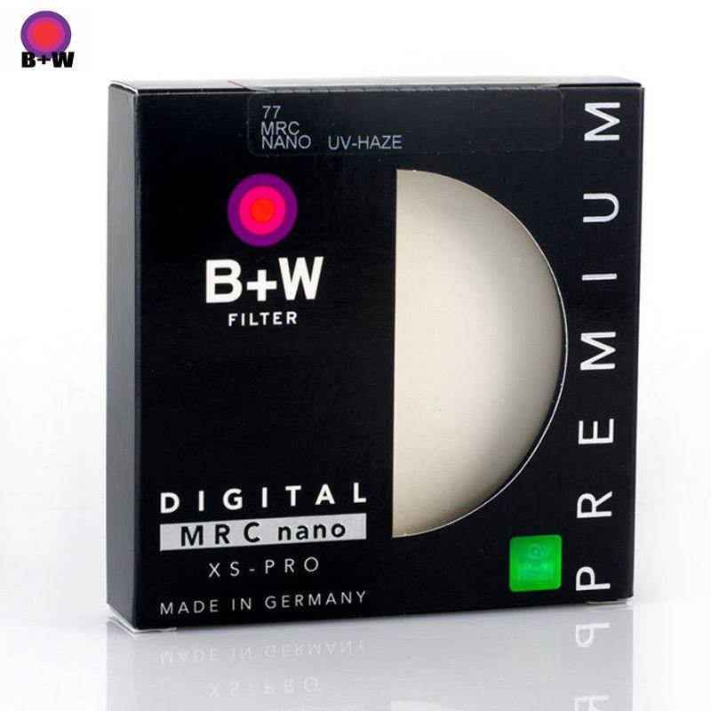 B + W 49mm 52mm 55mm 58mm 62mm 67mm 72mm 77mm 82mm XS-PRO MRC Nano UV brume filtre de protection Ultra-mince MC Filtro pour lentille de caméra