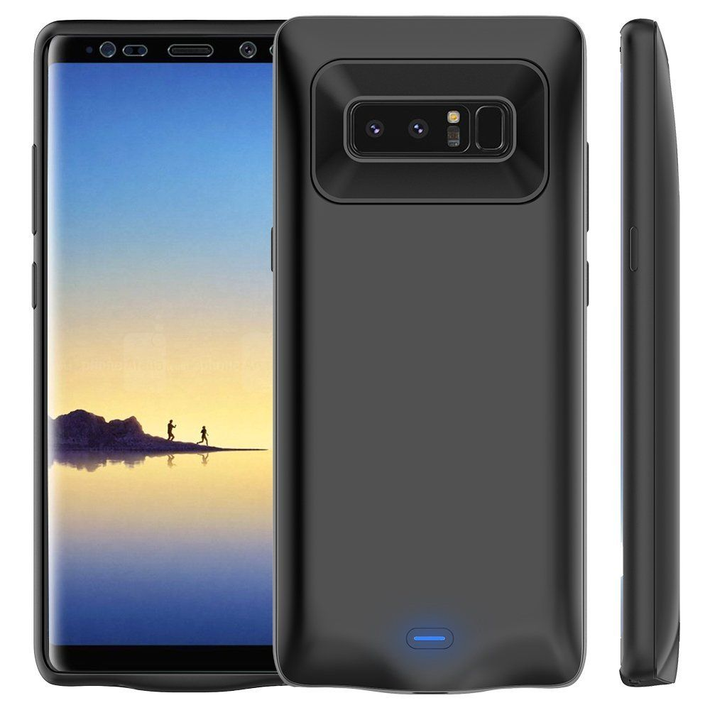 New External Battery Charger Portable Power Bank Cover Case For Samsung Galaxy Note 8 Alloy Charging Backup undas Capa coque
