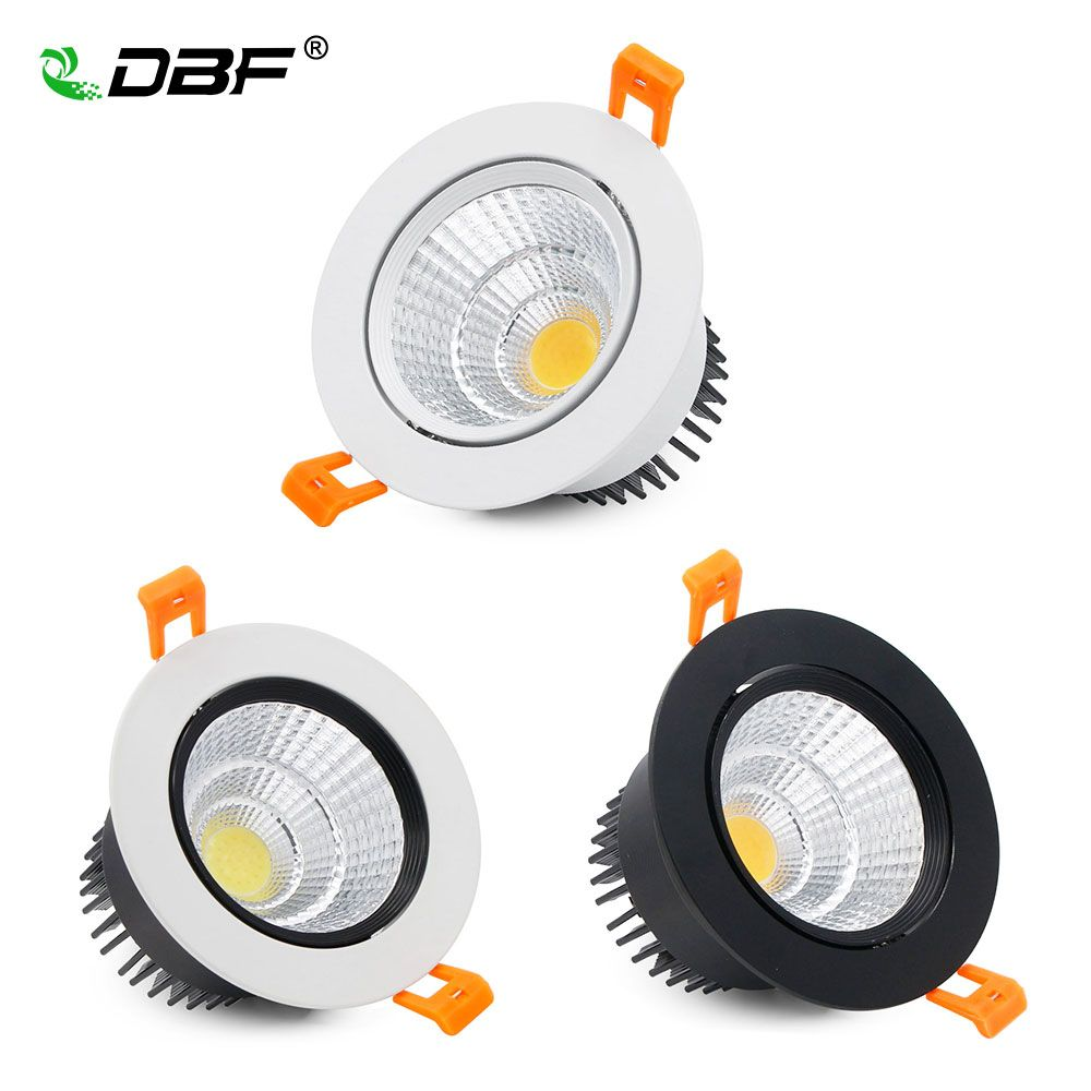 [DBF] Super Helle Epistar COB LED Einbauleuchte 5 Watt 9 Watt 12 Watt Warmes Weißes/Natürliches weißes/Kaltes Weiß Led-deckenpunktlicht AC220V