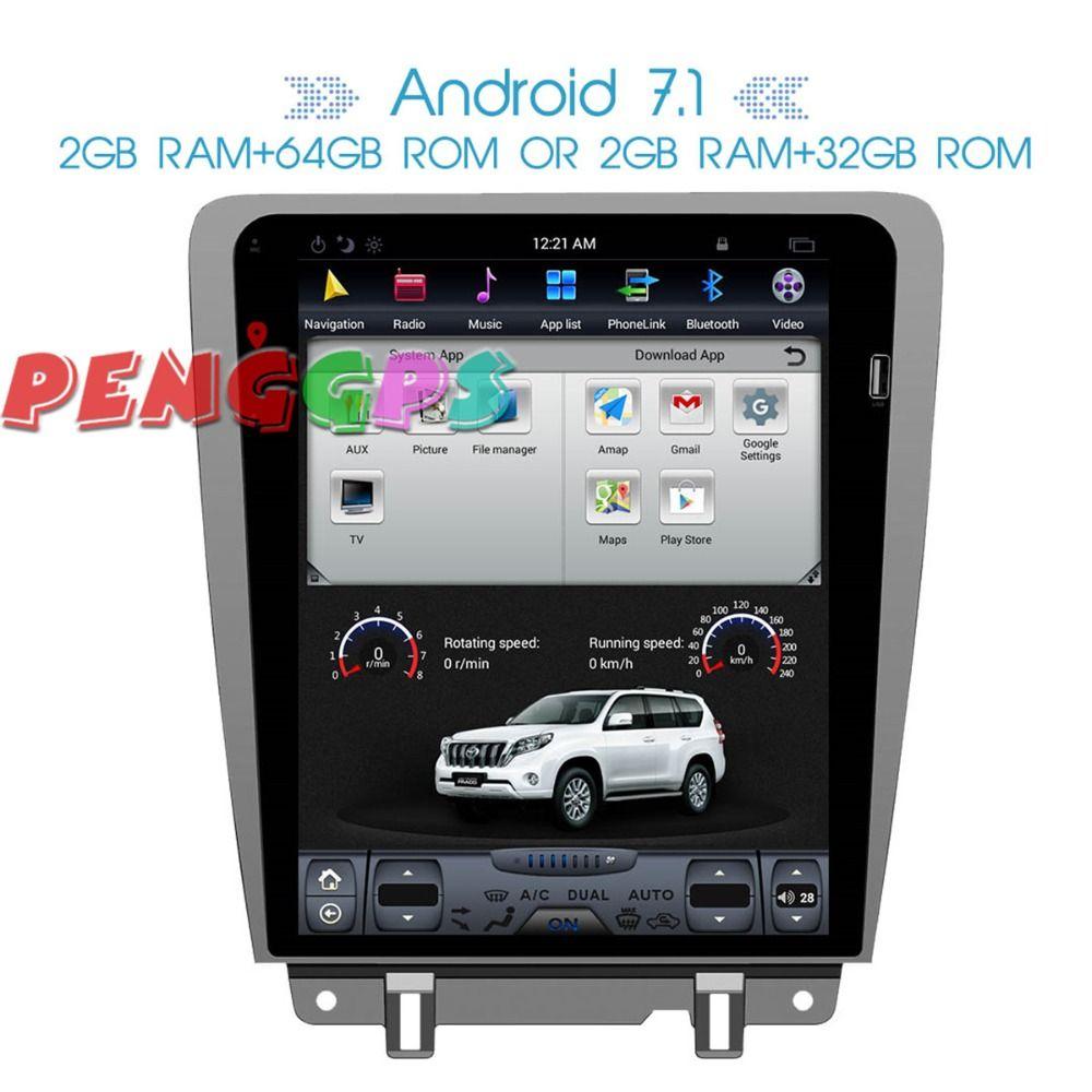 Tesla stil Android Radio Auto DVD Player GPS Navigation Einheit Für Ford Mustang 2010-2014 Steuergerät Multimedia Auto Stereo audio Karte