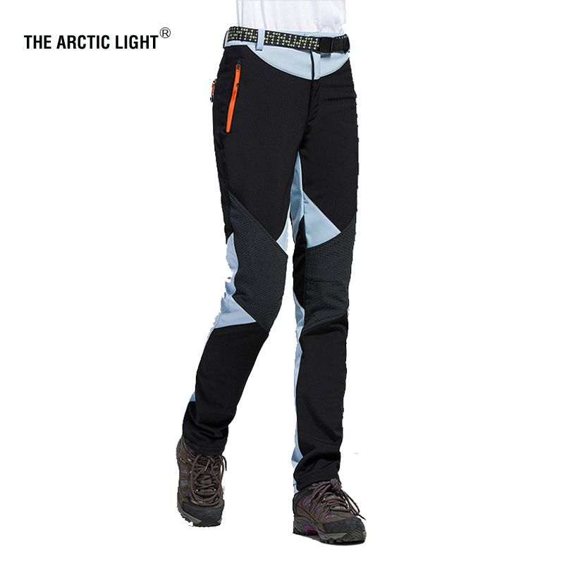THE ARCTIC LIGHT Hiking <font><b>Camping</b></font> Skiing Pants Outdoor Traverse Soft shell Trousers Waterproof Windproof Thermal For Women