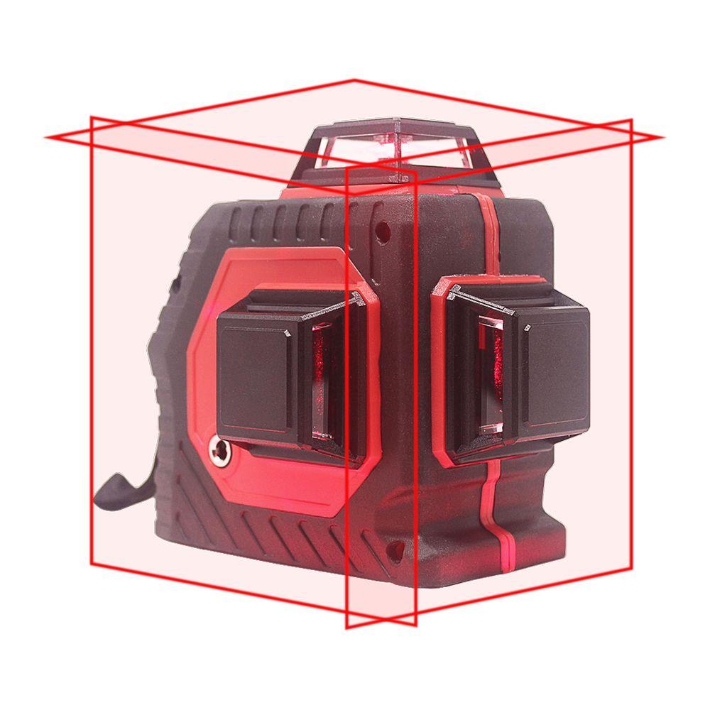 KETOTEK 12 Lines Laser Level 3D Self-Leveling 360 Degree Horizontal And Vertical Cross Red Laser Beam Line
