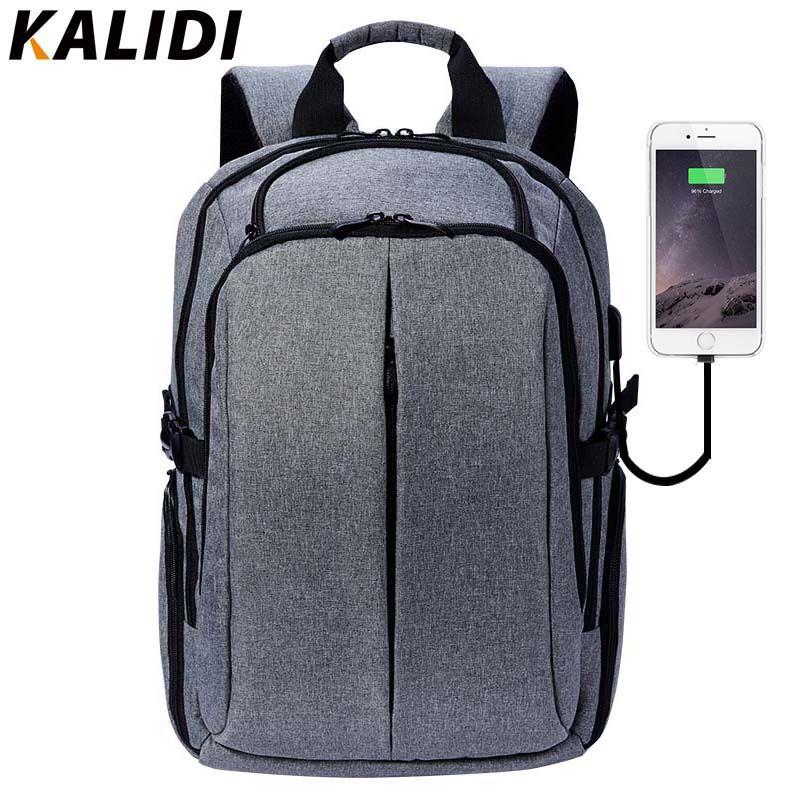 Kalidi 17 дюймов ноутбук рюкзак для подростков брендовая Для мужчин рюкзак студент Колледж Школьные ранцы 15 дюймов Водонепроницаемый рюкзак